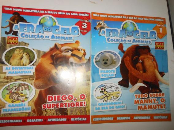 2 Revistas A Era Do Gelo Coleção Animais Sem Os Brindes - B7