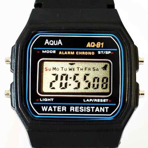 02 Relógio Original Aqua Waterproof A Prova Dagua Aq 81