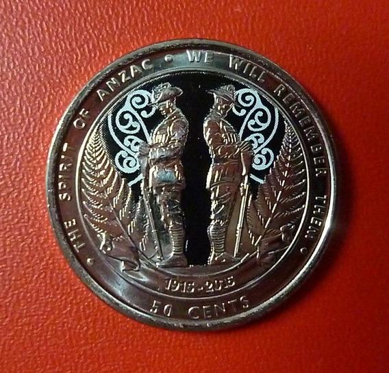 Nueva Zelanda Moneda El Espiritu De Anzac 50 Cents 2015