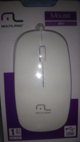 Mouse Multilaser Usb Slim Branco Mo168