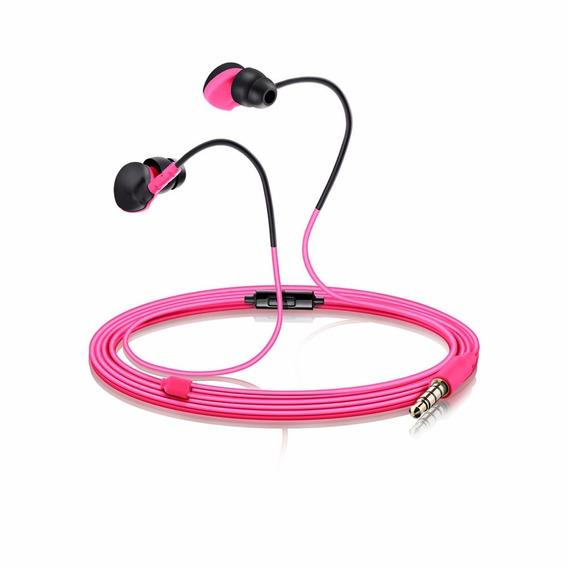 Fone De Ouvido Earphone Multilaser Sport Premium Rosa Ph 134