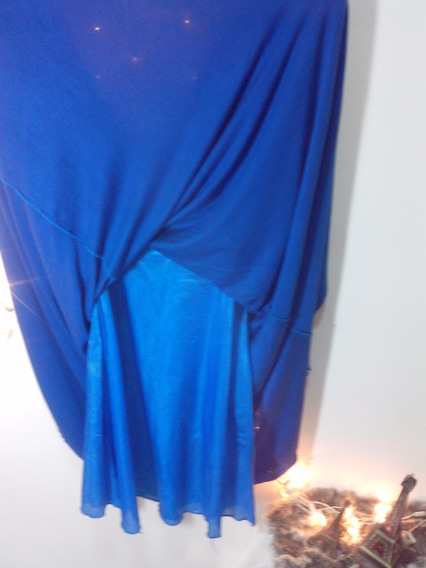Vestido Basico Azul M