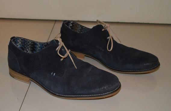Zapatos Zara De Hombre Vestir Casual Talle 42 Azul Oscuro