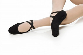 540954521a Sapatilha Ballet Dança Jazz Mod. Pluma Lona C strech Capezio