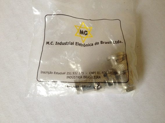 Conector Bnc Rg58 Fino Rosca Nacional Mc
