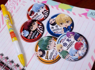 Set De 5 Stickers Circulares De Anime - Kuroko No Basket