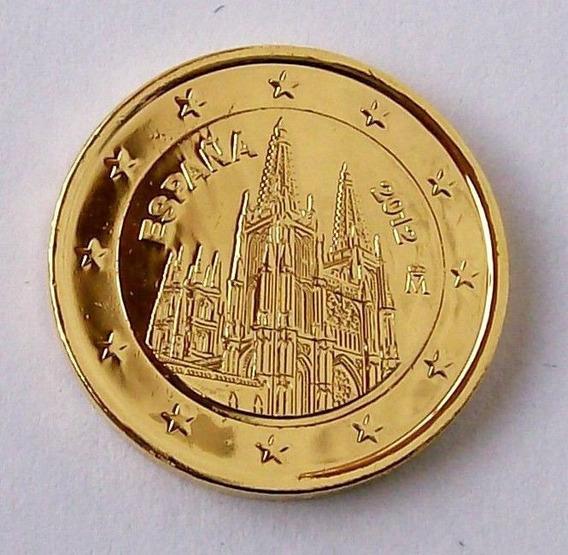 Moeda De Ouro 5 Centimos Euro Espanha 24 K