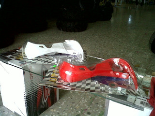 Cubre Puños / Manijas Color Rojo Handguard Motocross Atv