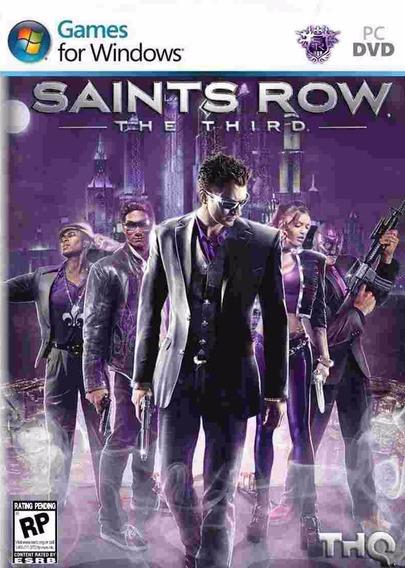 Saints Row The Third Pc Envio No Mesmo Dia Original!