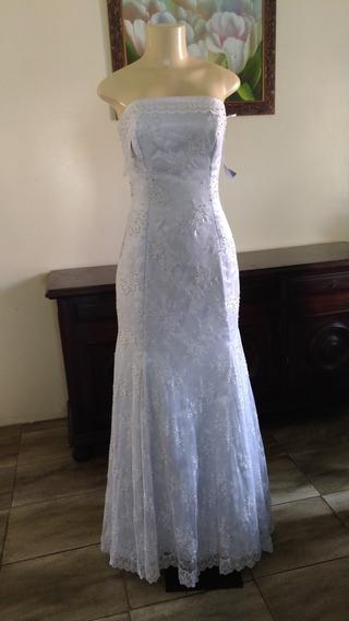Vestido De Noiva Sereia Com Calda Seda E Renda Francesa