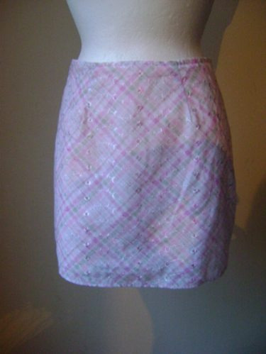 Talla 5-6 Minifalda Rosa Con Bordados!! Fach642