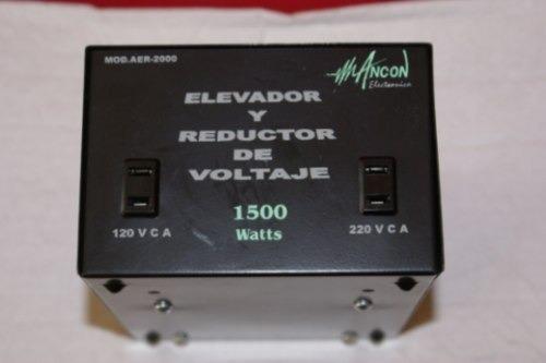 Imagen 1 de 4 de Convertidor Voltaje 110 220v 1500w Elevador Reductor Voltaje