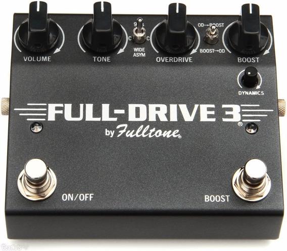 Fulltone Full-drive Iii Black Overdrive Boost C/ Nota Fiscal