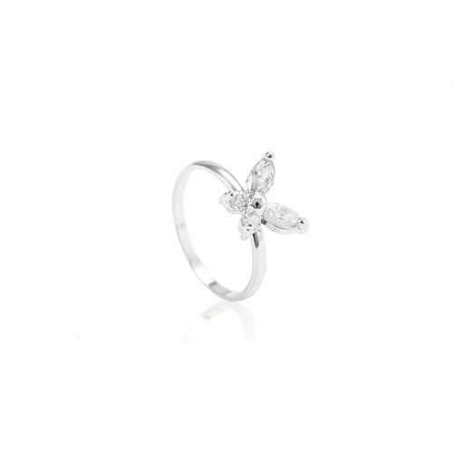 Anel De Falange, Borboleta Glasswinged - 11054