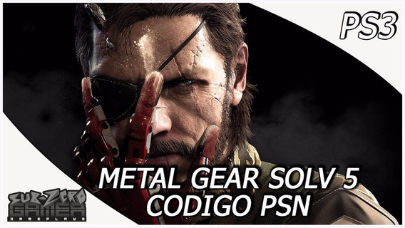Metal Gear Solid V Ps3 Código Psn Original