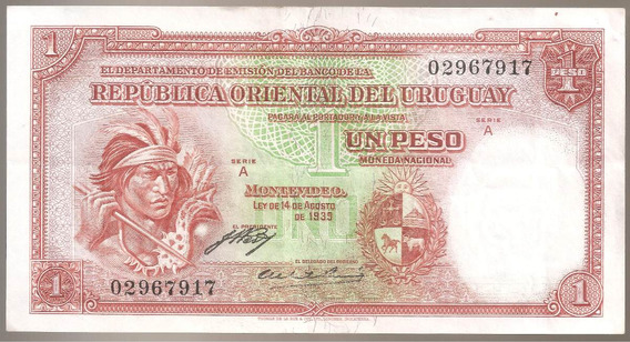 Uruguay, Peso, Ley 1935. P#28a. Xf