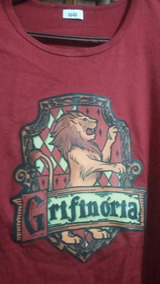 Camiseta Grifinoria Harry Potter Baby Look