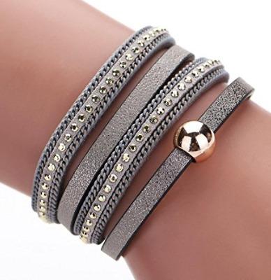 Bracelete Bohemia Cinza - Glam0023