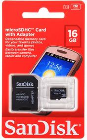 Micro Sd Sandisk 16gb Cartão De Memória Original Garantia