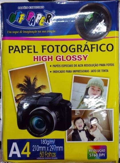 Papel Fotográfico A4 Off Paper Com 50 Folhas (2 Pacotes)