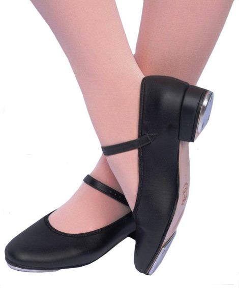 Sapato De Sapateado Feminino Dança Capezio Com Chapinha 32t