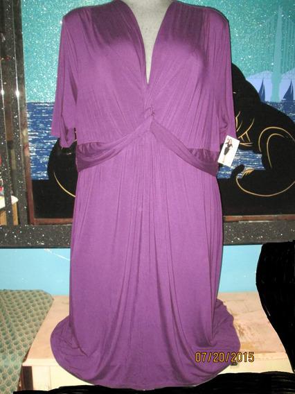 Vestido Morado De Gala Talla 5x (52/54 Mex )