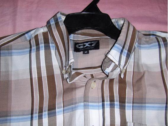Camisa De Cuadros Usada Con Detalle Minimo Marca Gx7