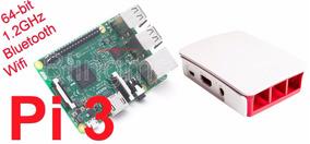 Raspberry Pi3 Model B Com Lindo Case Com Logo Raspberry