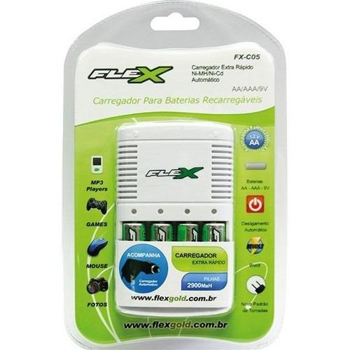 Carregador Para Baterias Recarregáveis Fx-c05