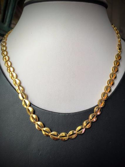 Colar Em Ouro 18k (750)-12.60 Gramas, 41.5 Cm.