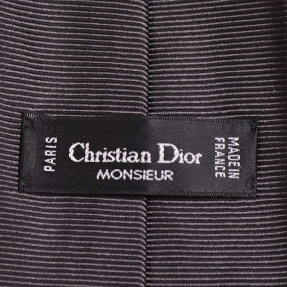 Corbata Seda Pura Christian Dior Legítima Made In France