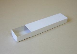 Cajas Blancas Cartón Tipo Fósforos D128 (16*4*2) X50u
