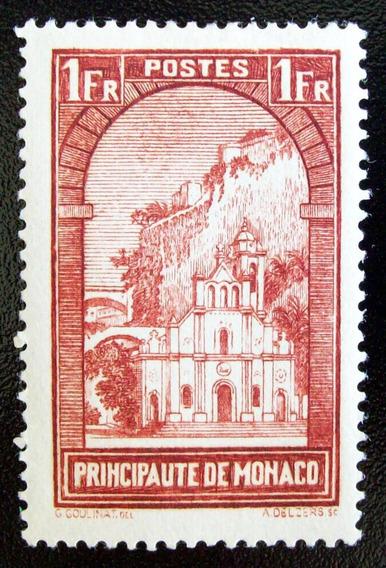 Mónaco - Sello Yv. 126 1fr Marrón Santa Devota Nuevo L4512