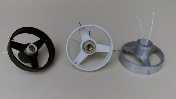 Kit 2 Suportes Em Alumínio Fundido Para Globo Boca 15cm Base