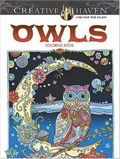 Libro Creative Haven Owls Coloring Book *sk