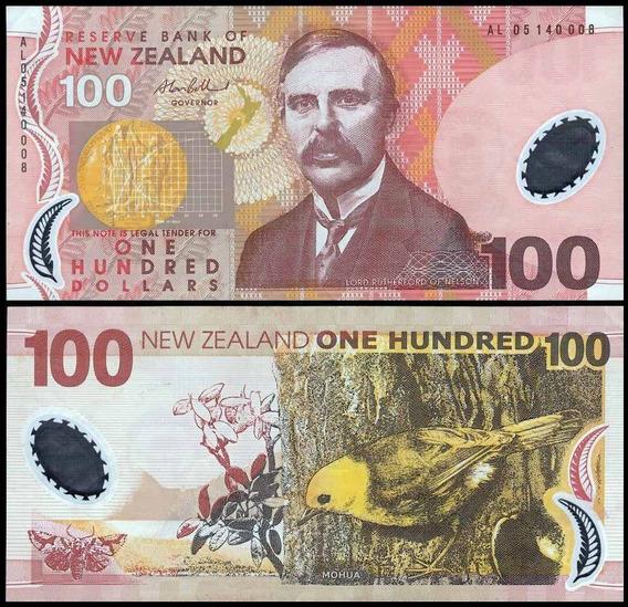New Zealand Nova Zelândia P-189b Sob 100 Dollars 2005 Polím.
