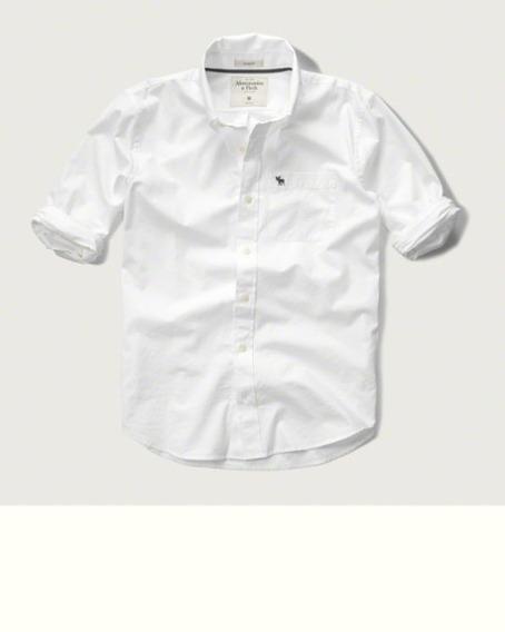 Camisa A&f Manga Longa Oxford Original