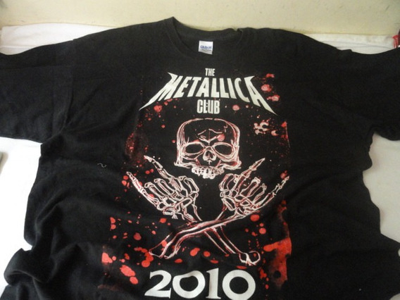 Camiseta The Metallica Club 2010 Gildan Tam. M 2xl