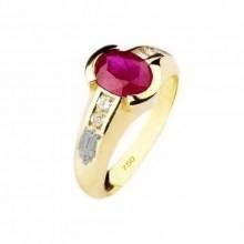 Anel De Formatura Ouro 18k E Diamantes (pedras Naturais)