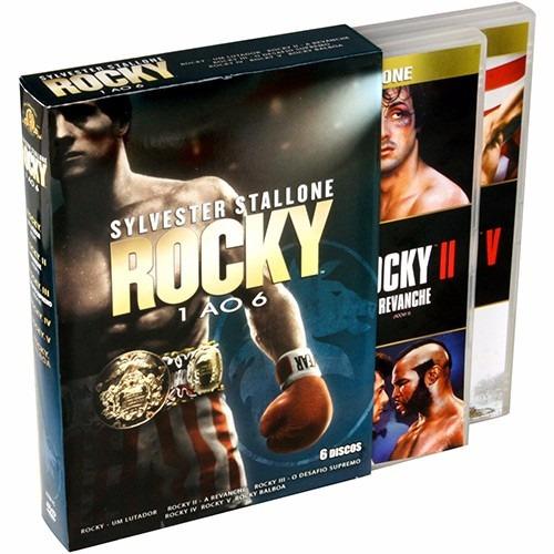 Box 6 Dvds Rocky Semi Novo
