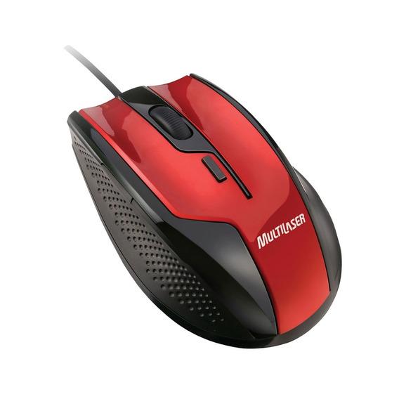 Mouse Gamer Fire - Usb,1600dpi - Preto Com Vermelho