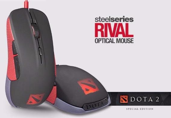 Mouse Steelseries Gamer Óptico Rival Dota 2 6500dpi 6 Botões