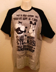Camiseta Disney Talla 31/32 Gris Con Hombro Azul