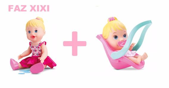 2 Bonecas My Little Faz Xixi + Little Conforto