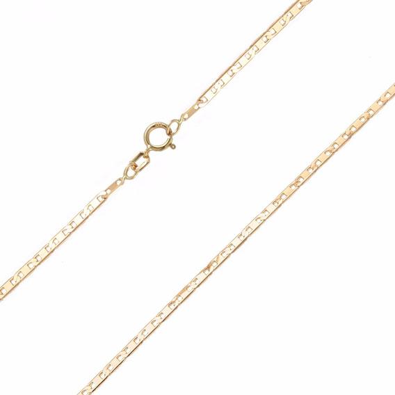 Corrente Ouro 18k Amarelo Piastrine De 60cm Envio Imediato