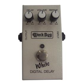 Pedal Efeito Para Guitarra Black Bug White Digital Delay Twd