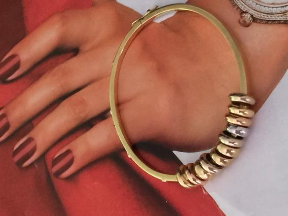 Pulseira Lindíssima Ouro 18k-15.4gr.ouro Amarelo-rosê-branco