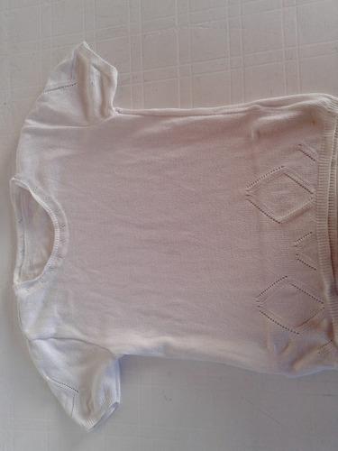 Sweter Blanco De Hilo Impecable!