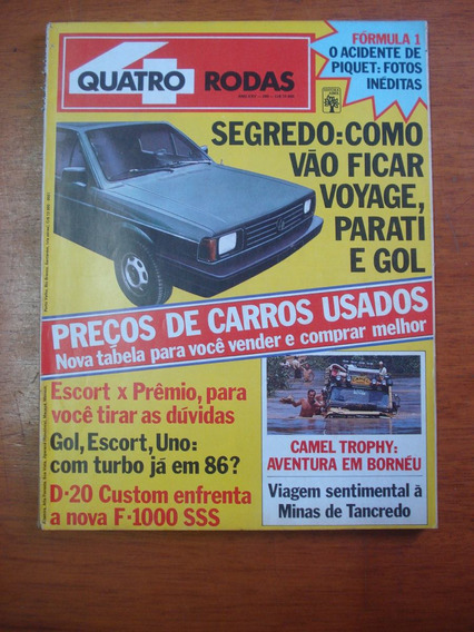 Revista Quatro Rodas Ano 1985 Nº 299 Uno 1.5 Voyage Parati