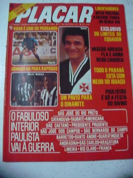 Revista Placar 366 P Toninho Palmeiras Inter Porto Unão 1977